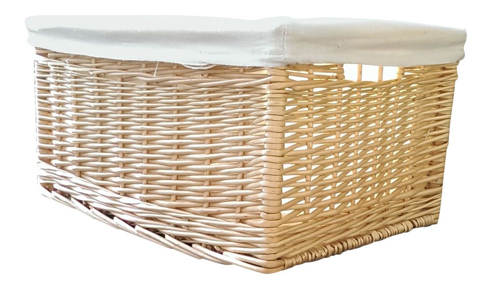 kitchen storage baskets buff willow wicker storage baskets lined kitchen drawer 3119