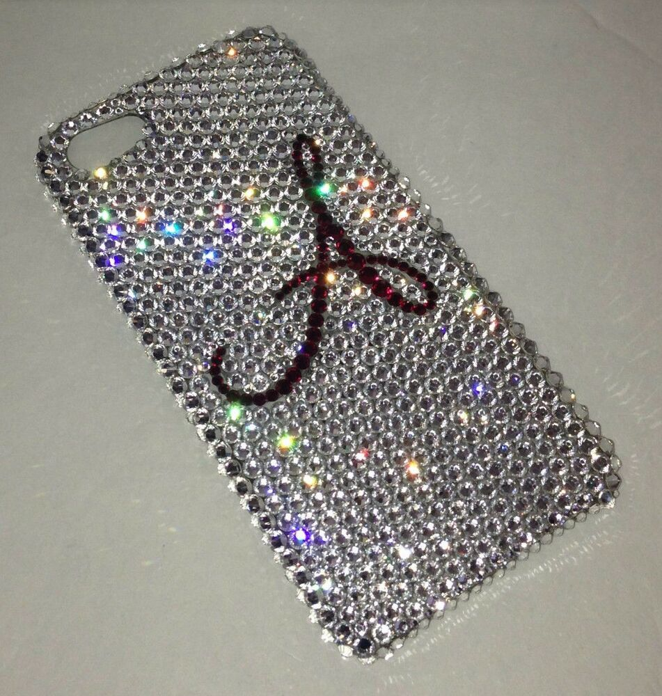 Initial Crystal BLING BACK CASE FOR IPHONE 6s 6 PLUS Made W/ SWAROVSKI ...