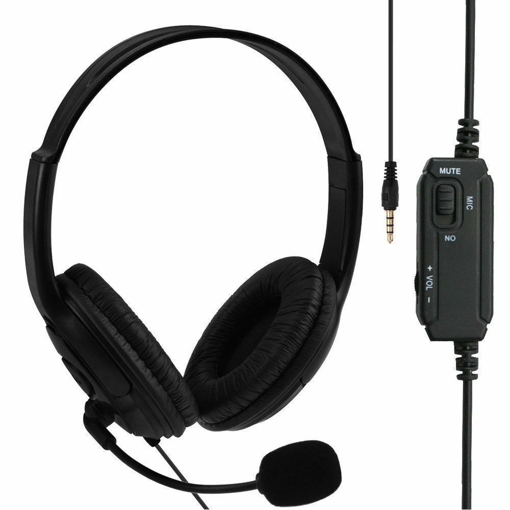 Live Wired Gaming Headset Headphone Microphone for Sony PS4 PlayStation 4 / PC   eBay
