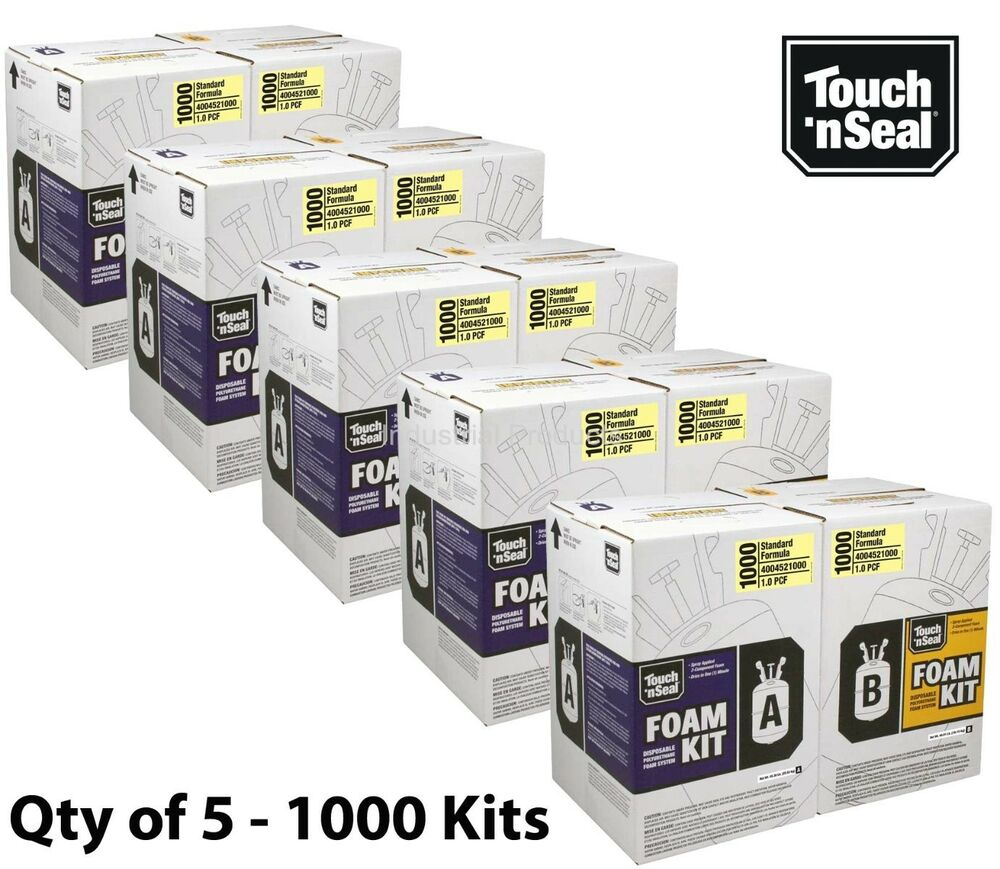 Touch N Seal 1000 Kit Open Cell Spray Foam Insulation Kit ...