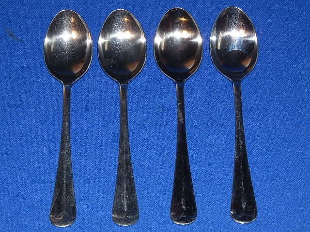 Oxford Hall Stainless Flatware Sagamore 4 Teaspoons 6 Quot Ebay