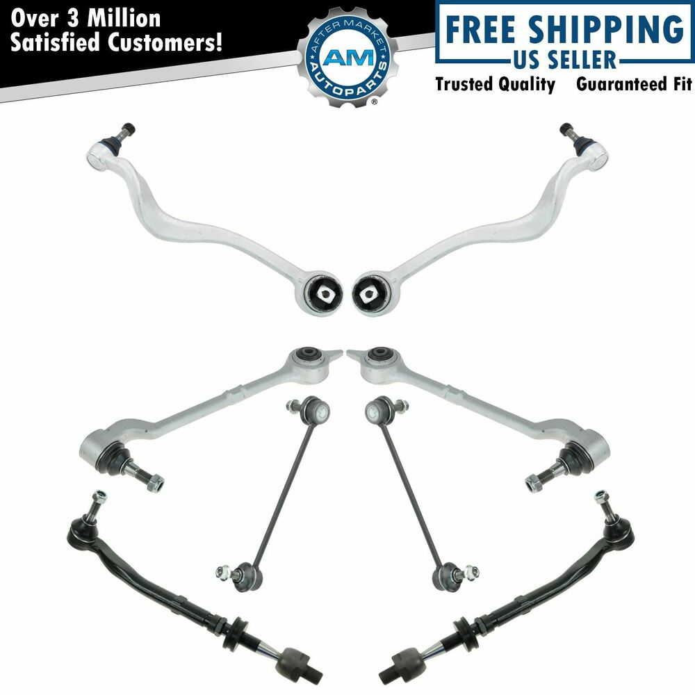 Front Lower Control Arms Tie Rod Ends Sway Bar Links
