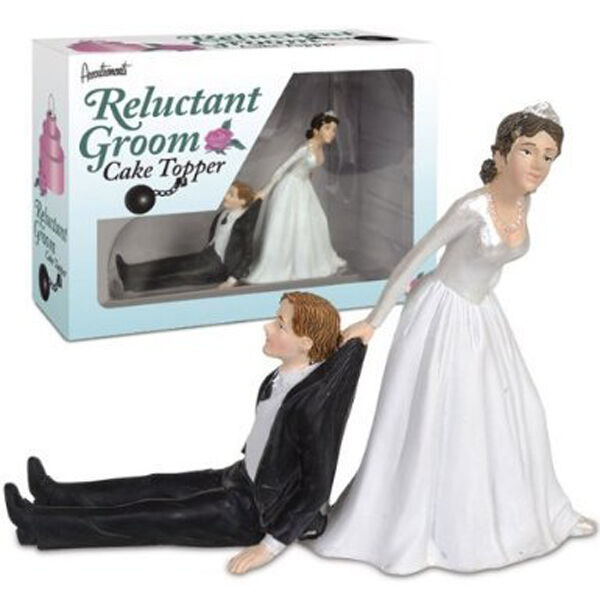 Wedding Gifts From Groom To Bride Day Of Wedding: Reluctant Groom Cake Topper Wedding Day Bride Marriage