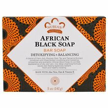 Nubian Heritage AFRICAN BLACK SOAP with Oats Aloe Vitamin E ONE BAR 5 OZ