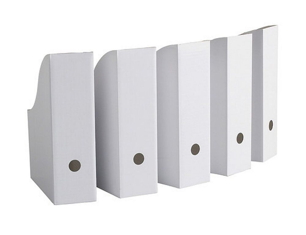 ikea magazine storage holder file white new 5 pack flyt ebay