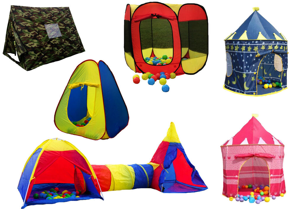 Childrens Kids Pop Up Play Tent Boys Girls Castle Garden