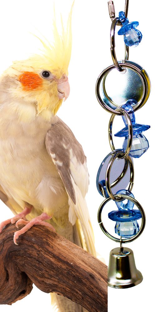 1741 Mirror Mirror Bird Toy Parrot Cage Toys Cages