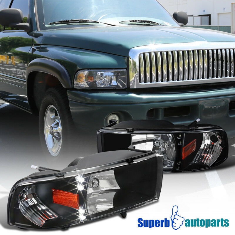 1994 2001 Dodge Ram 1500 2500 3500 Led Crystsl Headlights