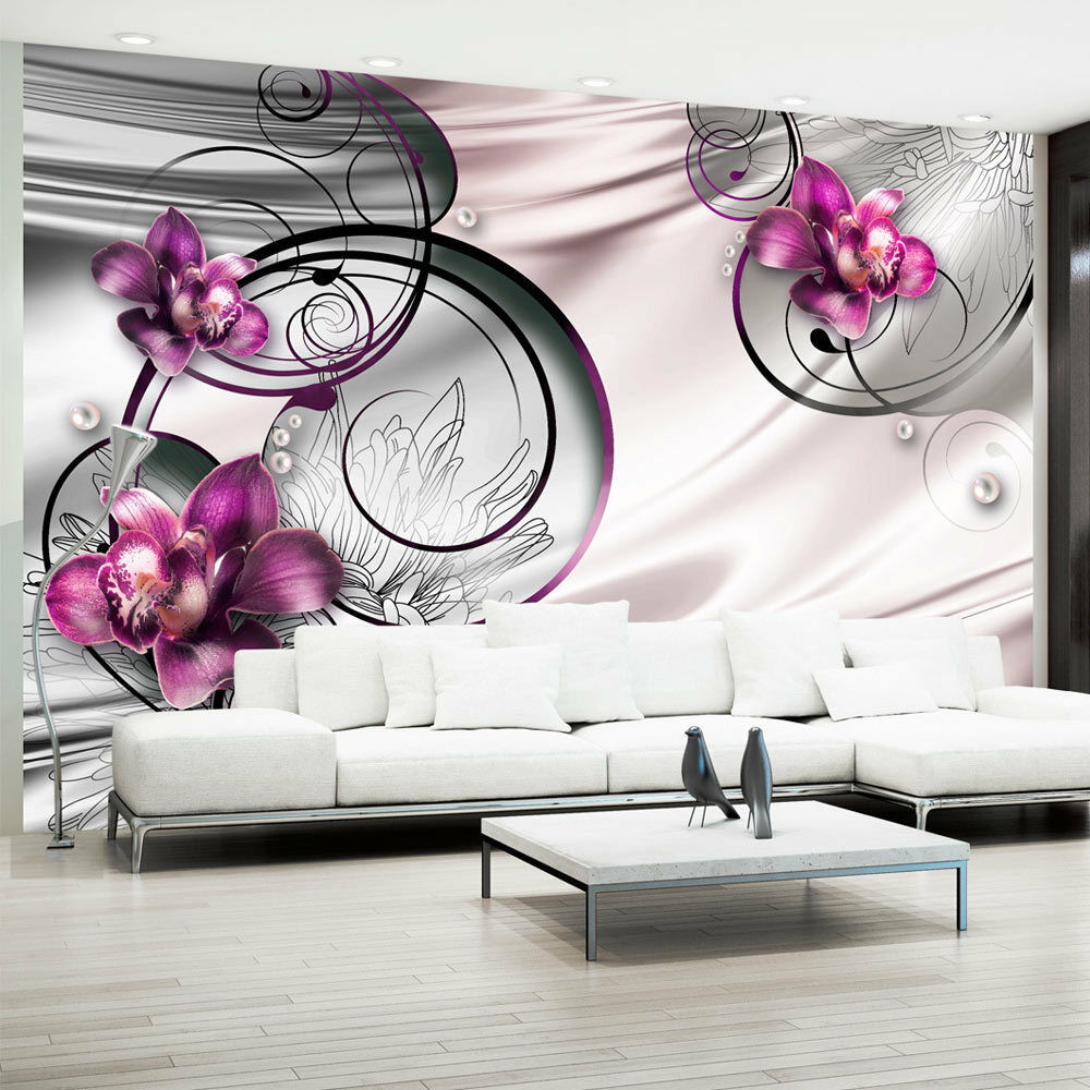 vlies fototapete 3 farben zur auswahl tapeten blumen abstrakt 10110906 113 ebay. Black Bedroom Furniture Sets. Home Design Ideas