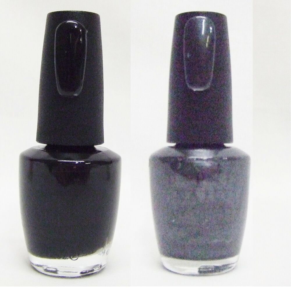 Black Nail Polish Ebay: OPI Nail Polish Color Black Onyx + Black Satin T02/T03