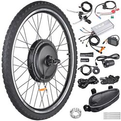 Kyпить 1000W Electric Bicycle Motor Conversion Kit LCD Meter Ebike Cycling Front Wheel на еВаy.соm