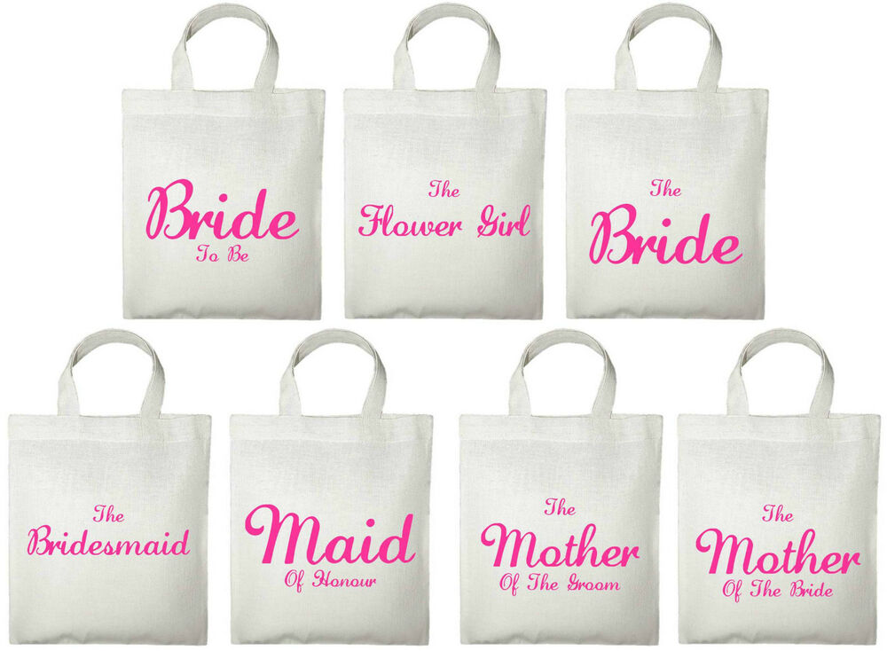 Small Wedding Gift Bags: Wedding Favour Small Tote Bags