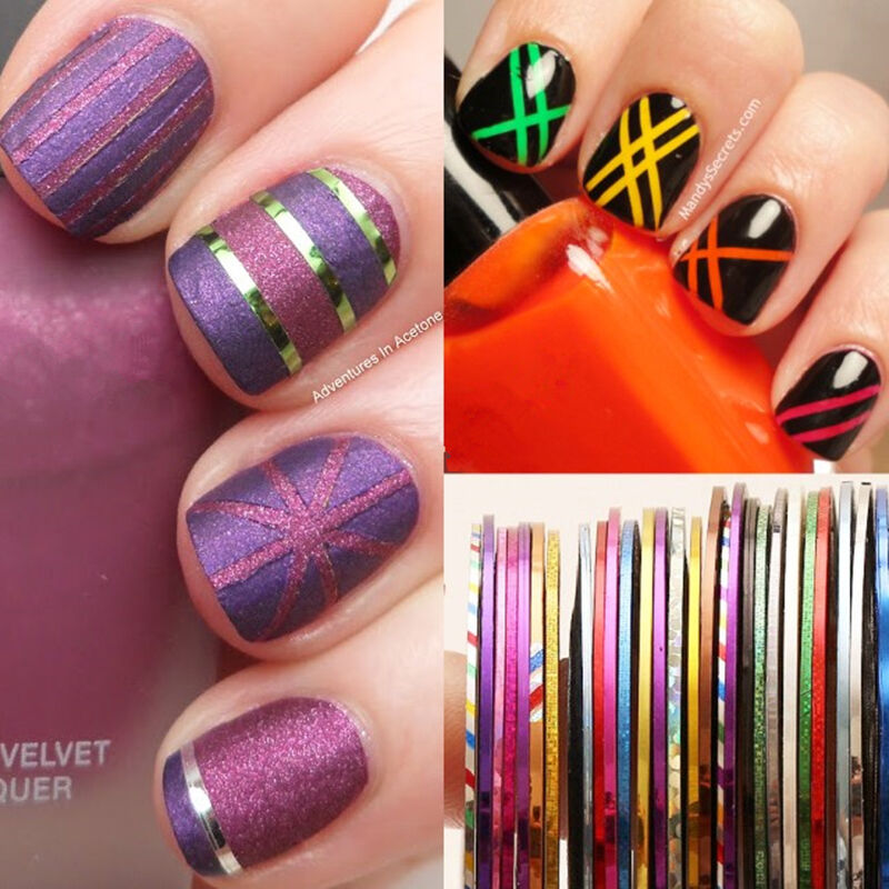 Tape Nail Art Designs: Rouleaux Ligne Nail Art Striping TAPE Design SET Bandes