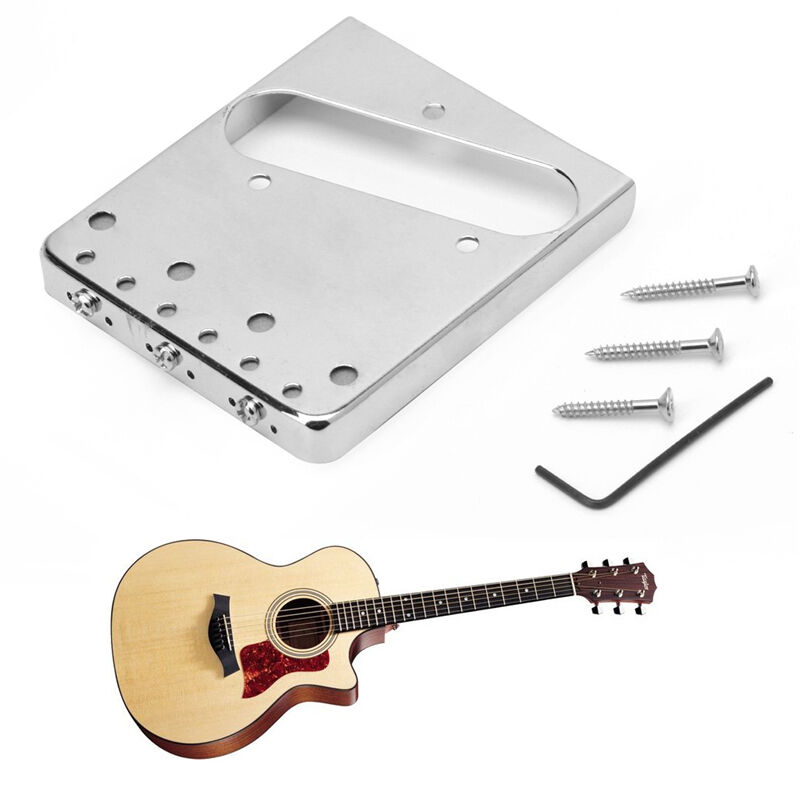 chrome silver saddle ashtray bridge for fender telecaster tele electric guitar ebay. Black Bedroom Furniture Sets. Home Design Ideas