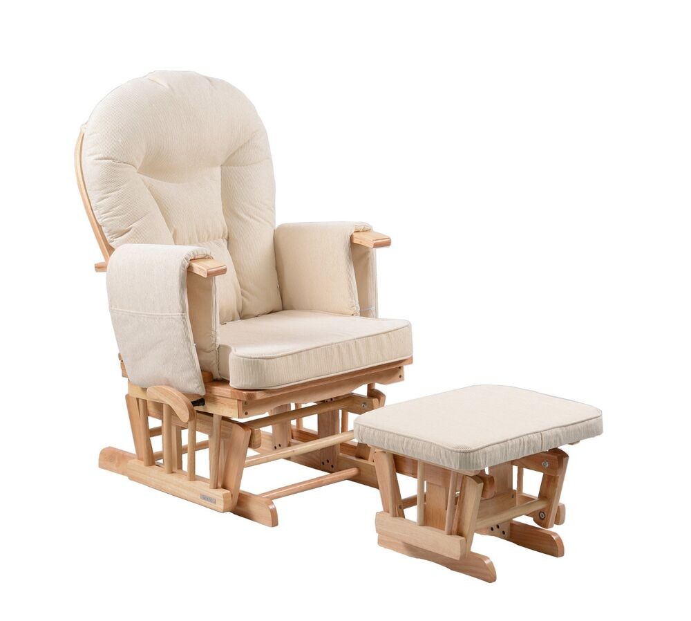 ... Nursing Glider maternity gliding rocking chair with footstool  eBay