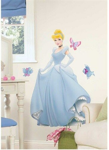 Disney princess cinderella giant wall sticker decal 30 for Barbie princess giant wall mural
