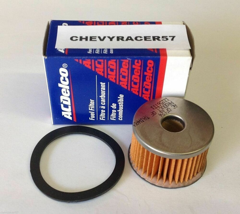 ac delco gf124 glass gas fuel filter replacement element