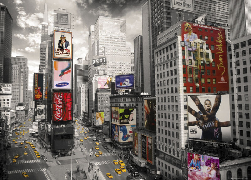 new york times square giant poster print 55x39 ebay. Black Bedroom Furniture Sets. Home Design Ideas
