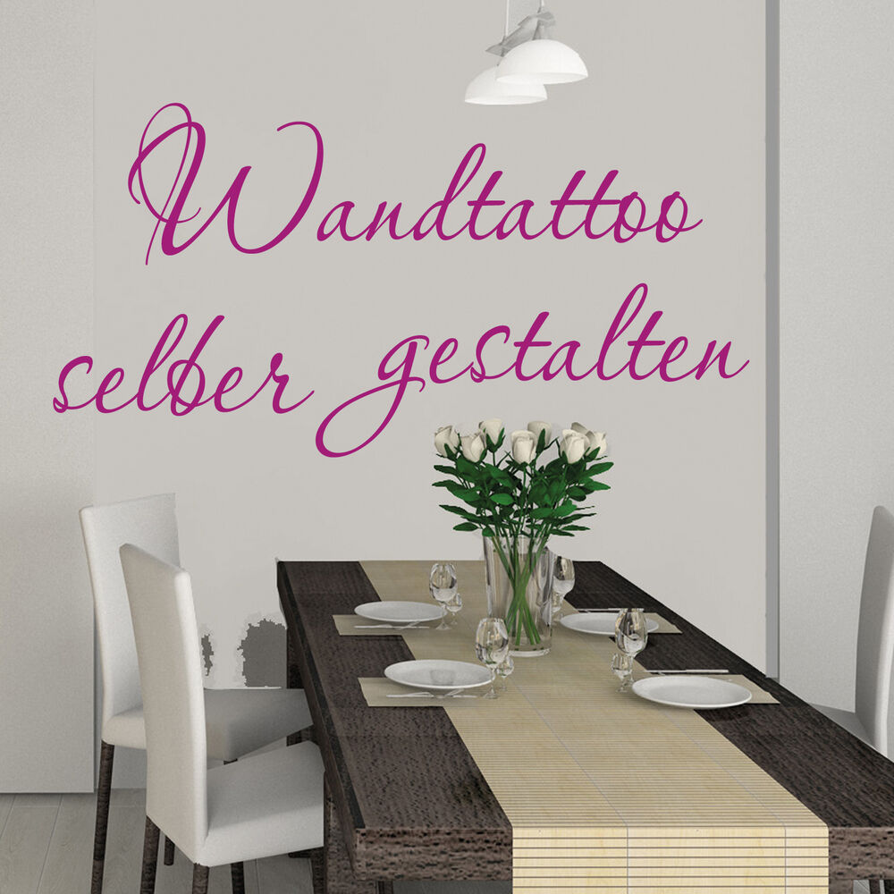 wandtattoo spruch zitate wandsticker dein text f r k che schlafzimmer t re ebay. Black Bedroom Furniture Sets. Home Design Ideas