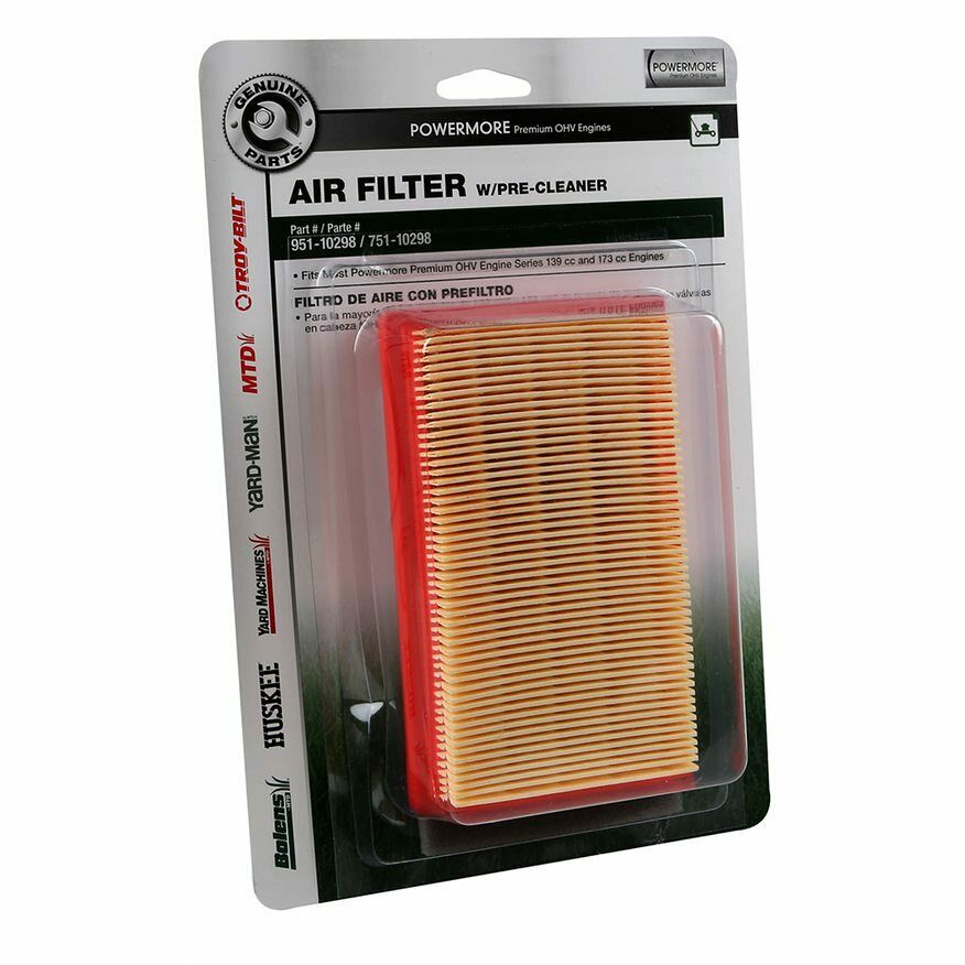 Mtd 751 10298 Lawn Mower Air Filter And Pre Cleaner Combo