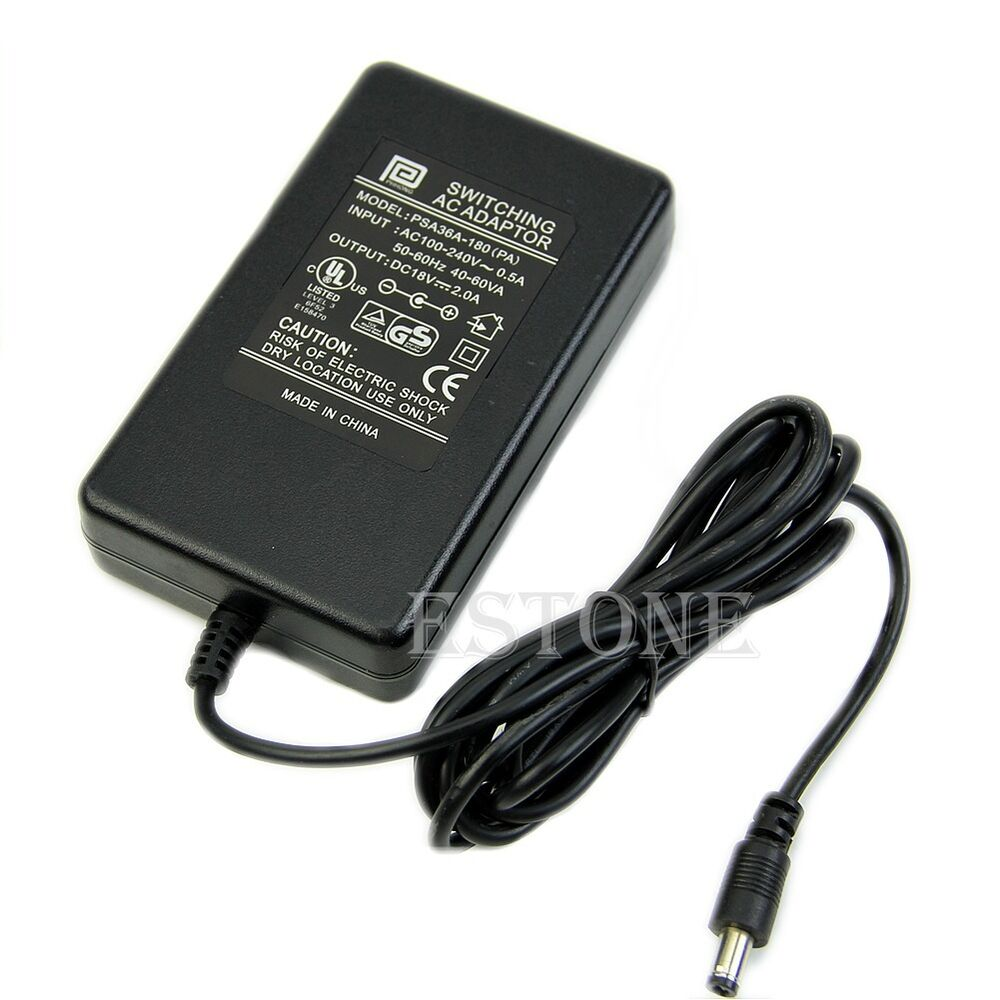 5 5mm X 2 5mm New 18v 2 0a Lcd Monitor Ac Dc Adapter Power