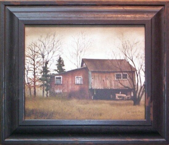 Red Barn Wall Decor : Country red barn tractor shed framed print wall decor ?