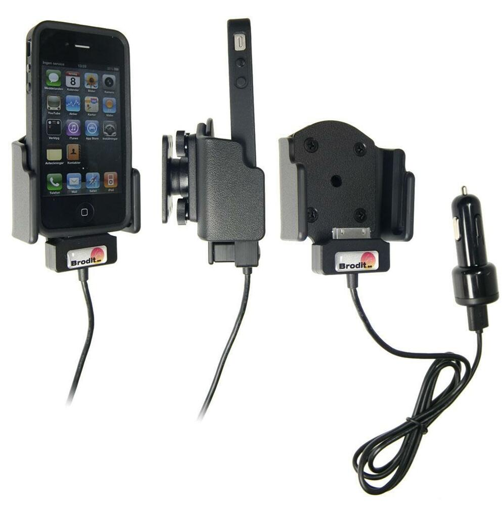 brodit iphone 4 4s active charging holder 521165 ebay. Black Bedroom Furniture Sets. Home Design Ideas