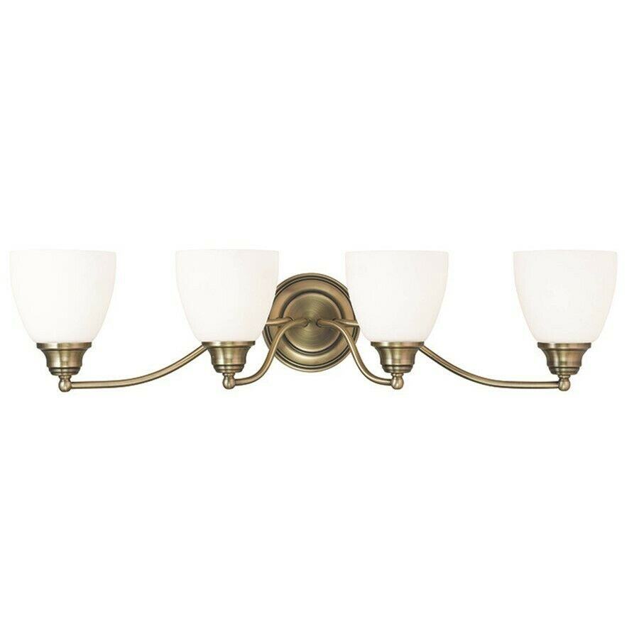 Livex Lighting Somerville Bathroom Vanity Lighting Antique Brass 13674 01
