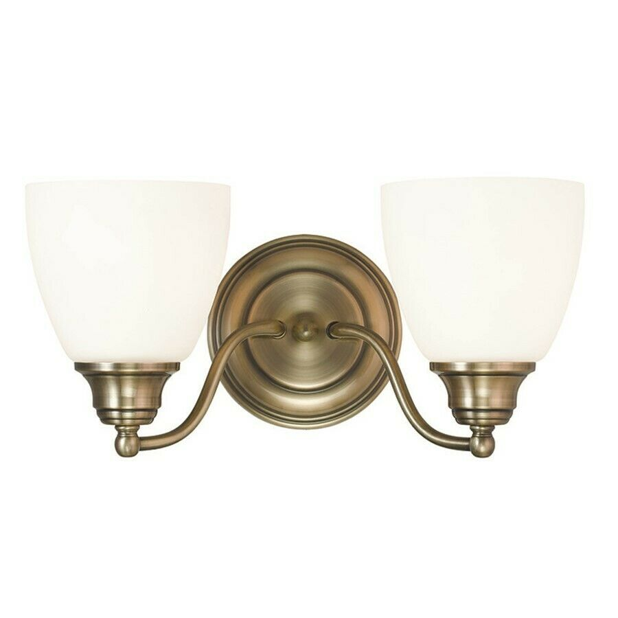 Antique Bathroom Vanity Lights : Livex Lighting Somerville Bathroom Vanity Lighting, Antique Brass - 13672-01 eBay
