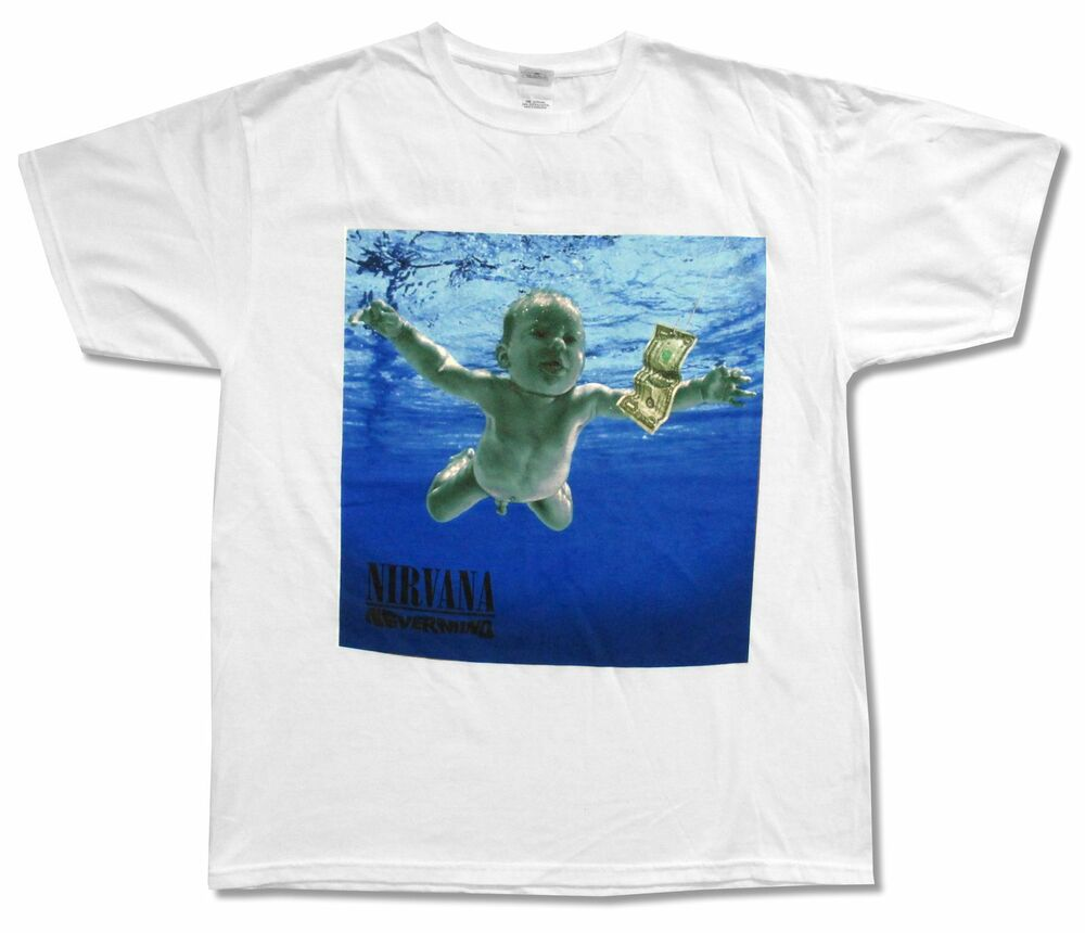 nirvana nevermind 20th anniversary tracklist white t shirt. Black Bedroom Furniture Sets. Home Design Ideas