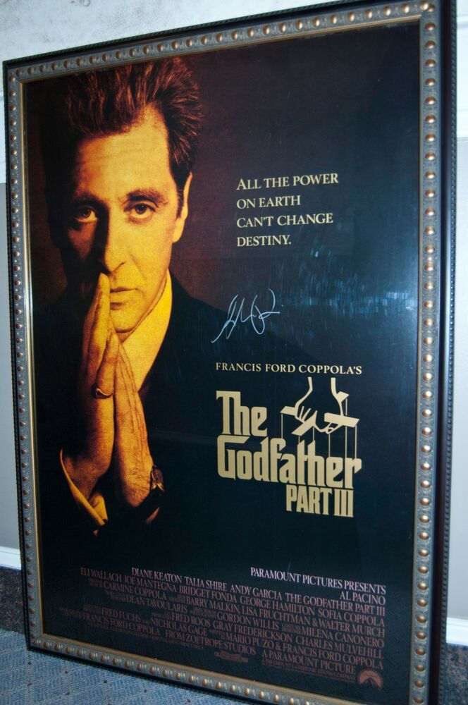 AUTOGRAPHED Al PACINO GODFATHER PART 3 MOVIE POSTER | eBay
