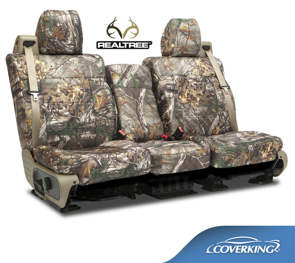 new full printed realtree xtra camo camouflage seat covers 5102040 28 ebay. Black Bedroom Furniture Sets. Home Design Ideas
