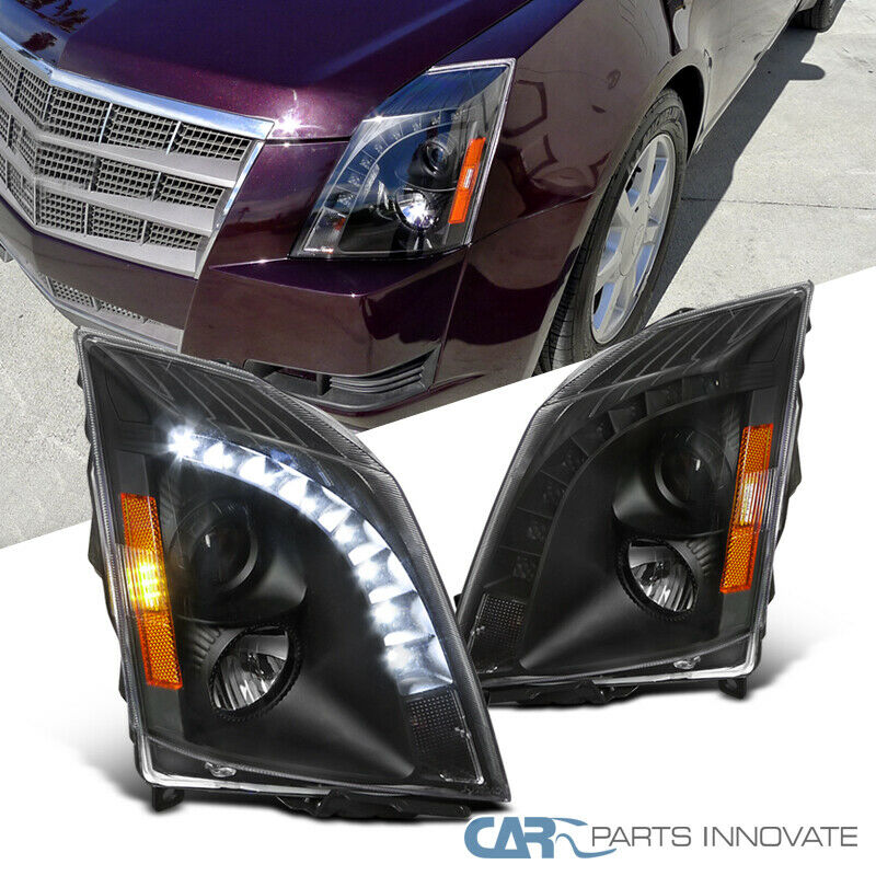 08-14 Cadillac CTS Black SMD LED DRL Strip Projector