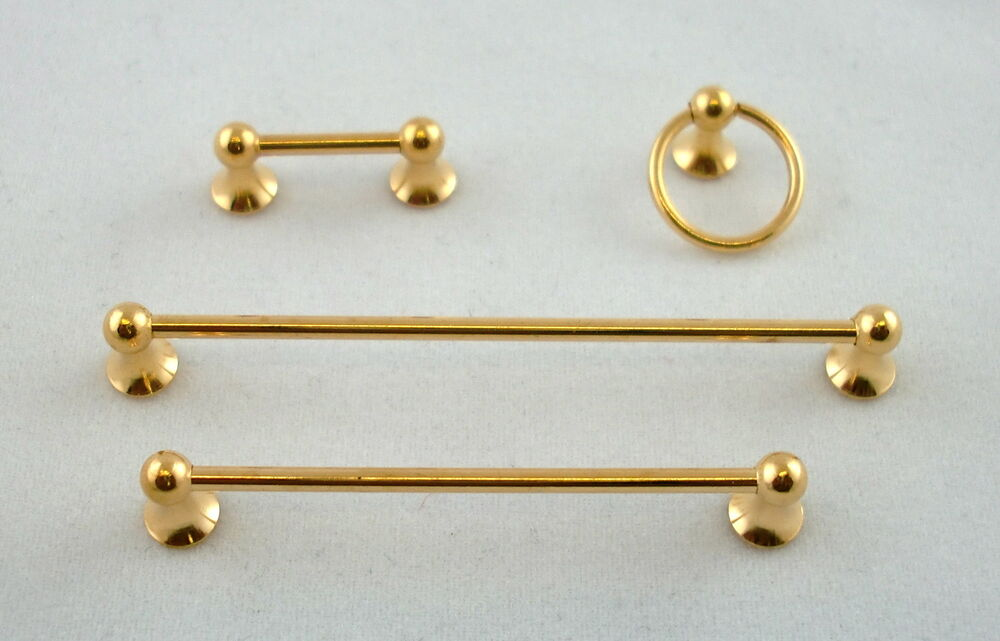 Dolls house miniature 1 12 scale bathroom fittings gold for L k bathroom fittings