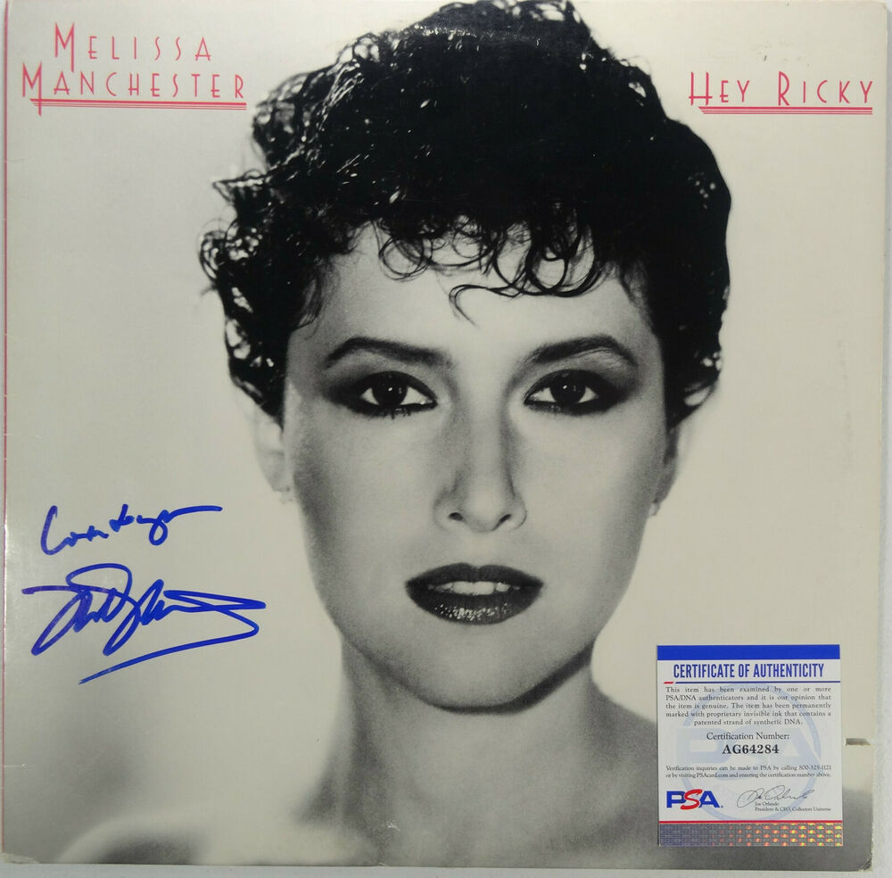 Nice Photo Albums: SIGNED MELISSA MANCHESTER AUTOGRAPHED LP ALBUM COVER NICE