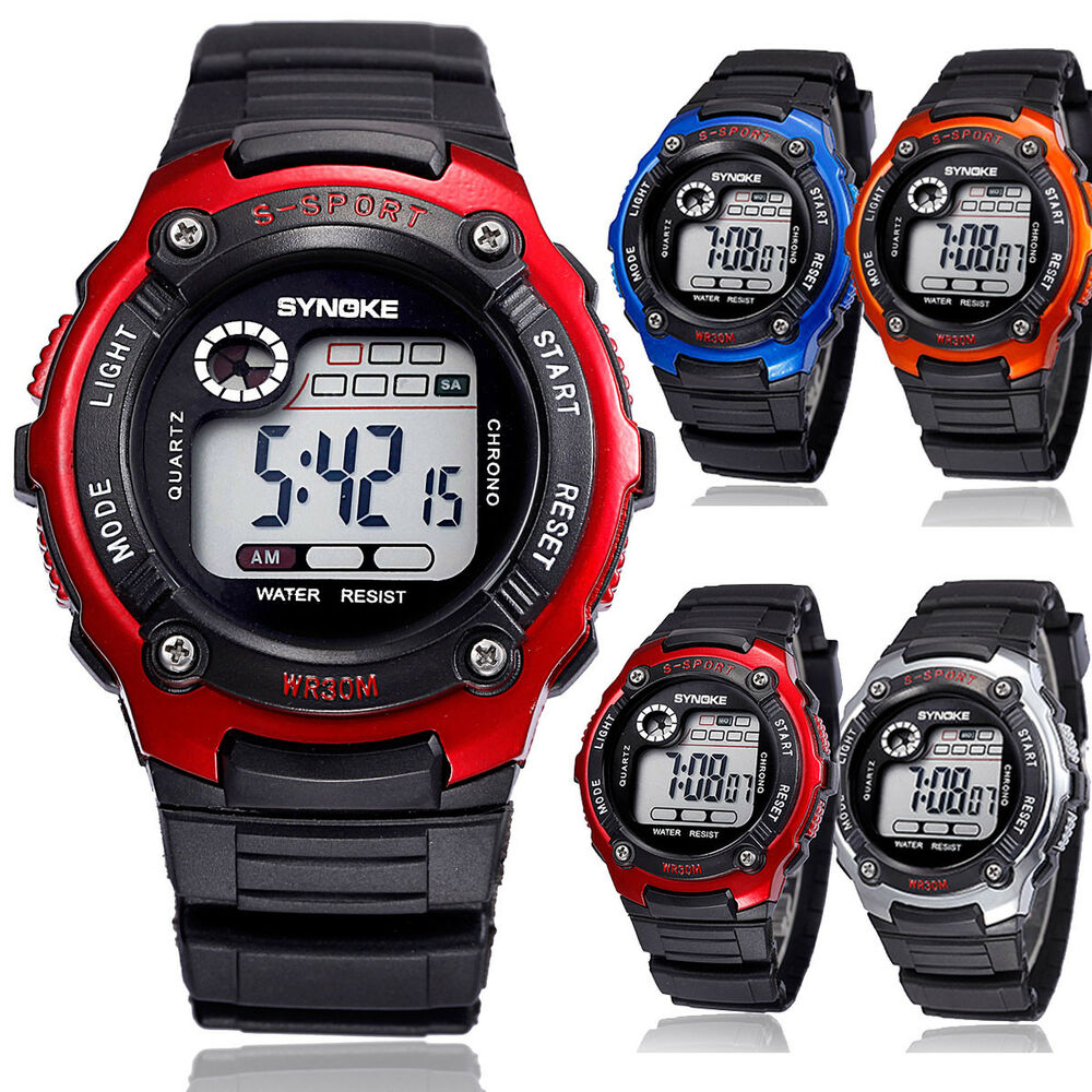multifunction waterproof child boy 39 s girl 39 s sports electronic watch watches usa ebay