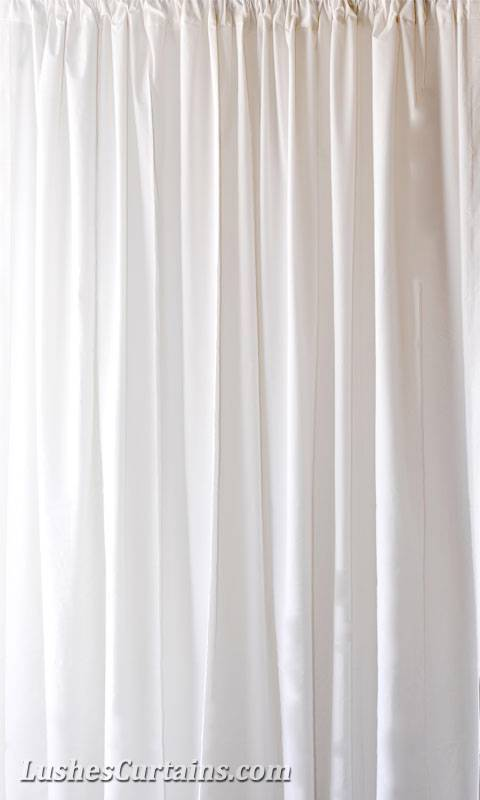 168 Inch H Solid White Velvet Ready Made Curtain Panels