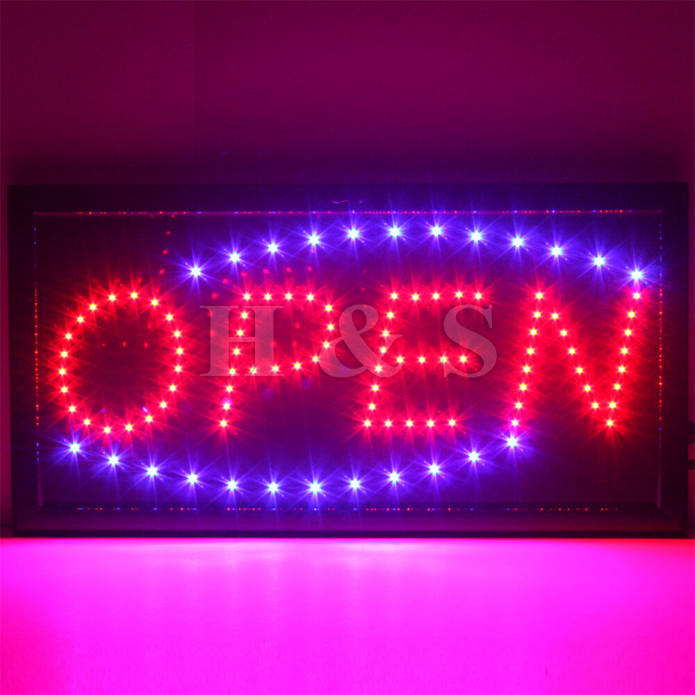 Good Quality Shop Lights: Top Quality STATIC LED OPEN Shop Sign Signs Neon Display