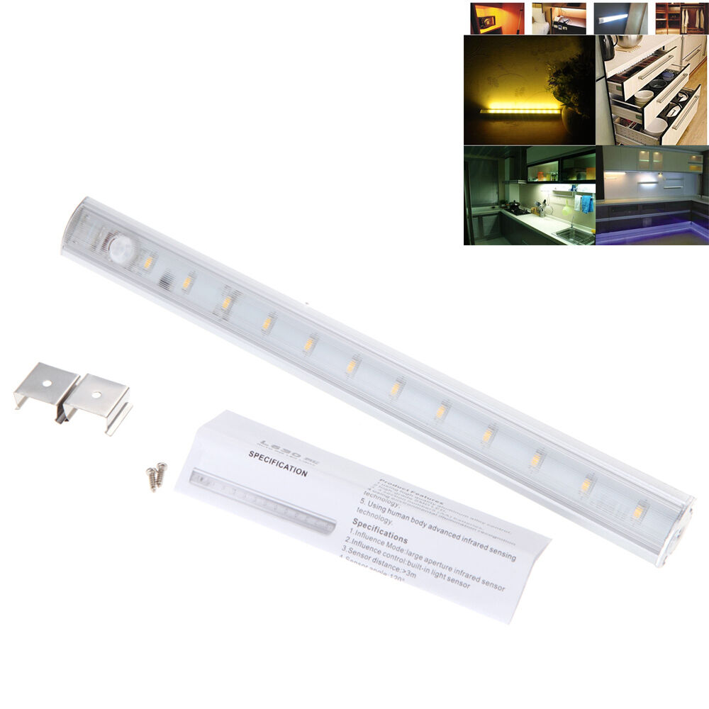 30cm 12 led smd 3528 under cabinet light pir motion sensor lamp kitchen wardr. Black Bedroom Furniture Sets. Home Design Ideas