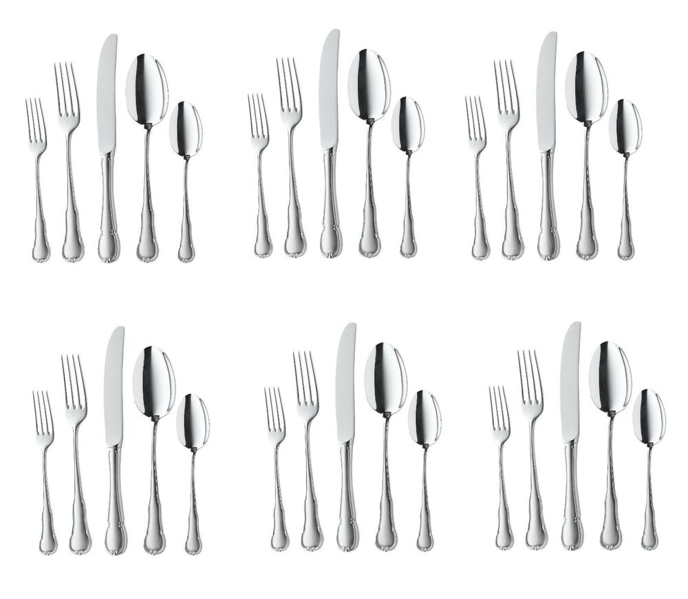 wmf barock 30 piece cromargan 18 10 stainless steel flatware set service for 6 ebay. Black Bedroom Furniture Sets. Home Design Ideas