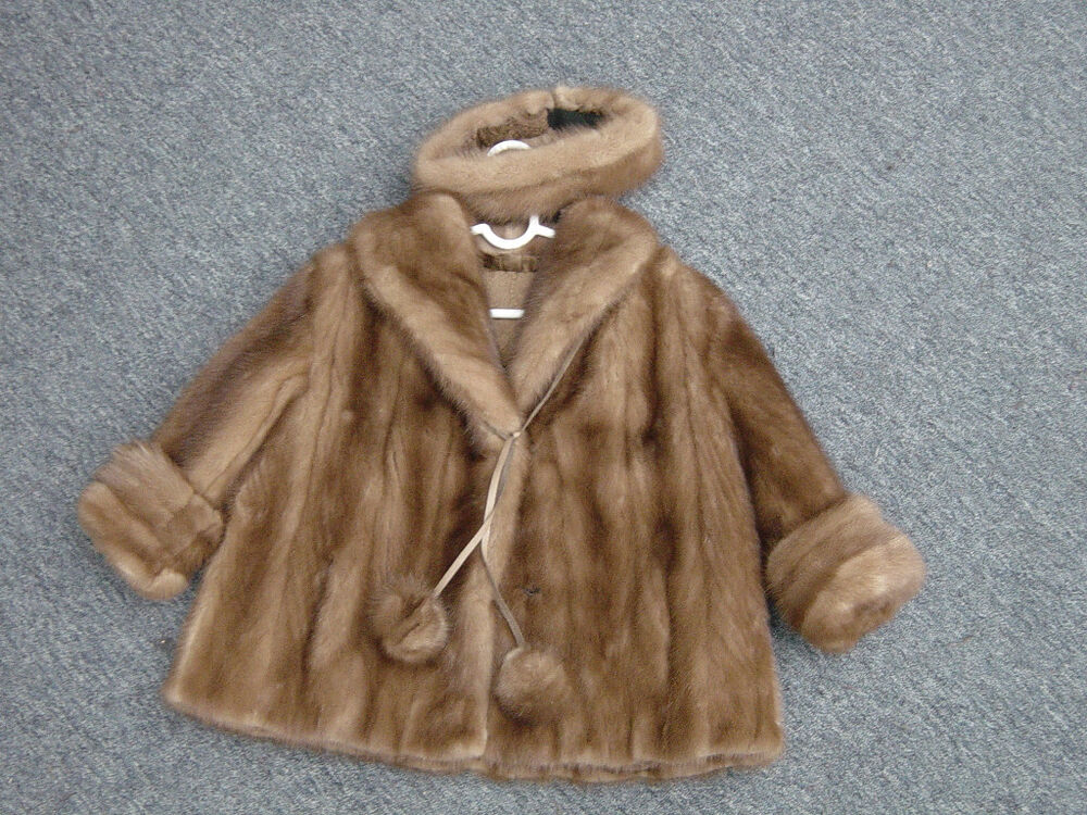 CHILDRENS CHILDS KIDS BROWN MINK JACKET COAT Toddler | eBay