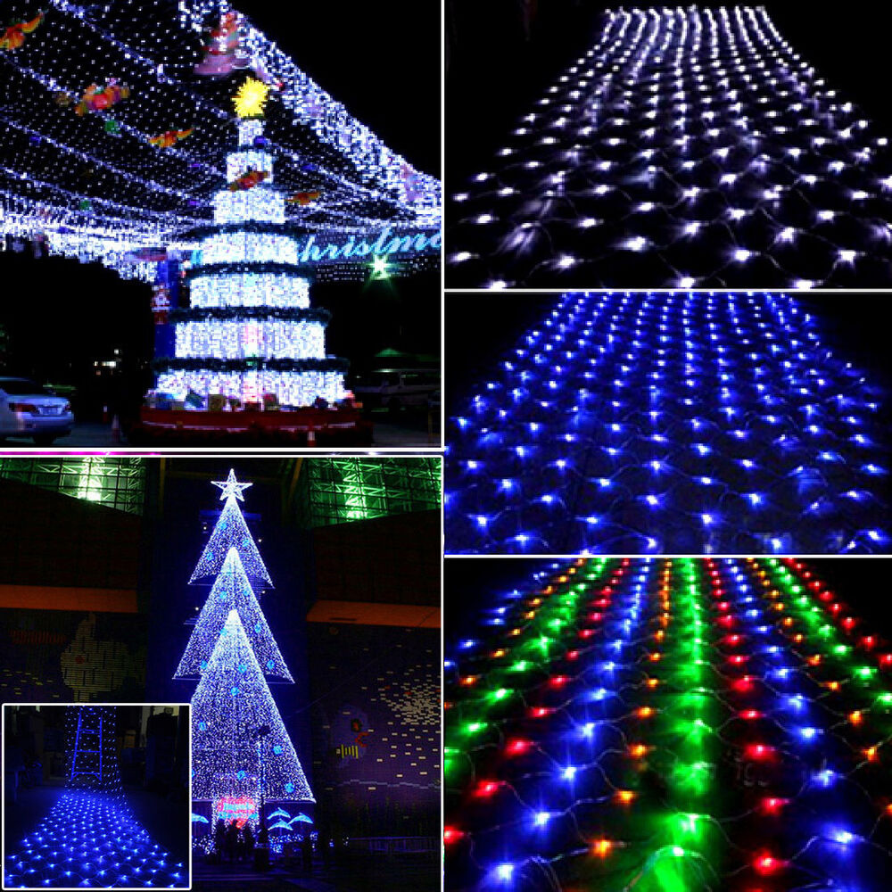 100 196 led net fairy lights xmas party for 57in led lighted peacock outdoor christmas decoration