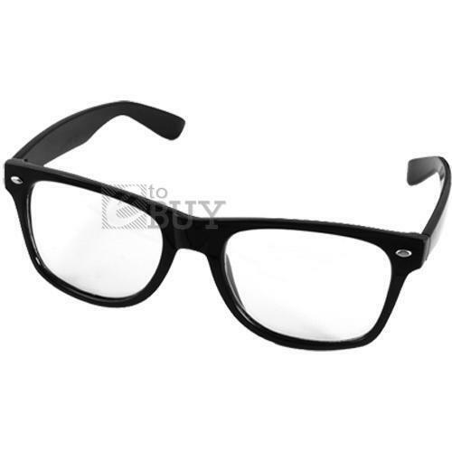 Black Frame Glasses Clear Lens : Clear Lens Black Frame Spectacles Glasses Eyeglasses eBay