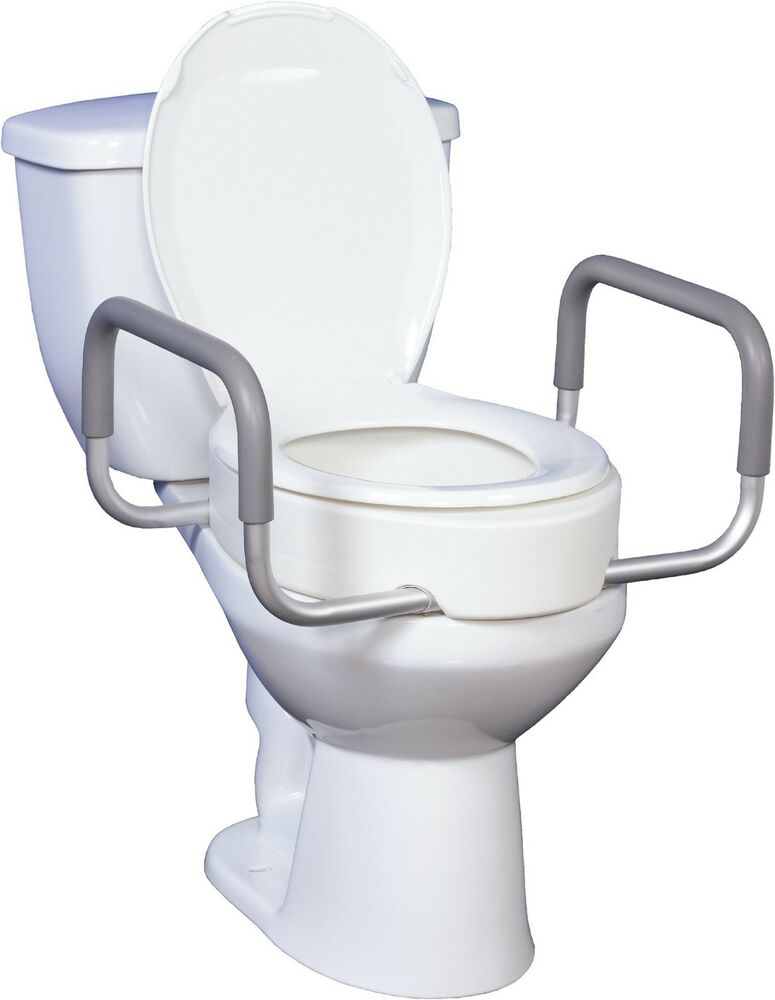 Premium Raised Toilet Seat With Removable Arms For