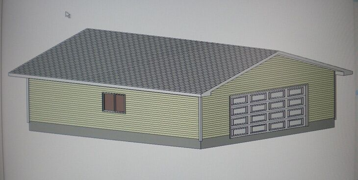28 39 X 32 39 Garage Shop Plans Materials List Blueprints