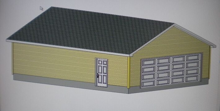 24 39 x 32 39 garage shop plans materials list blueprints for Material list for garage