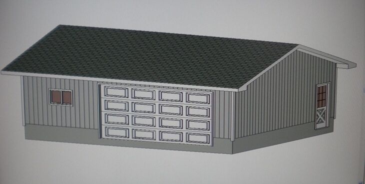 24 39 x 30 39 garage shop plans materials list blueprints for Material list for garage