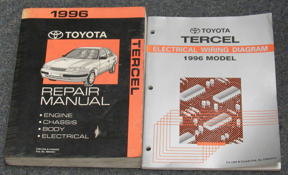 1996 Toyota Tercel Service Repair Manual Set
