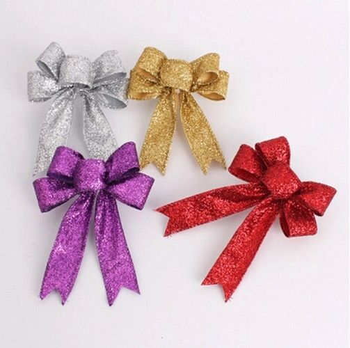 Christmas Tree Bows Decorations: New DIY Christmas Tree Ornament Bow-knot Small Pendant