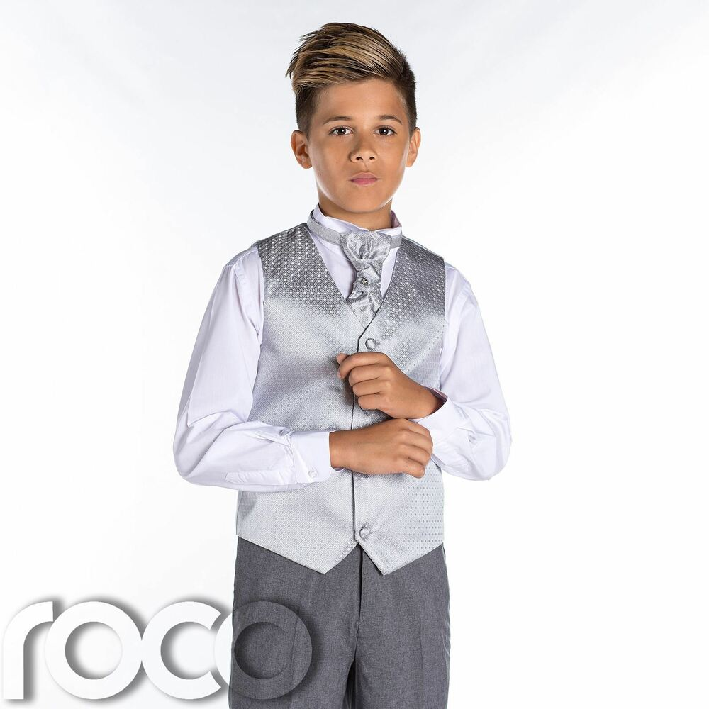 Boys Silver Grey Suit Boy Suits Wedding
